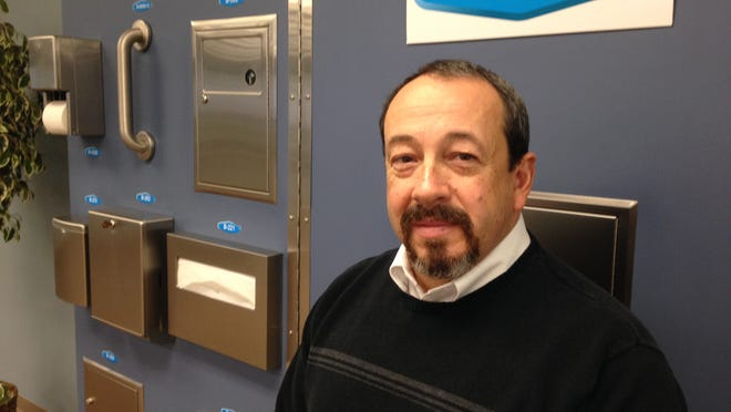 Dave Martineau is the division manager at Bobrick Washroom Equipment Inc., Mid-Continent Division, 100 Bobrick Drive.