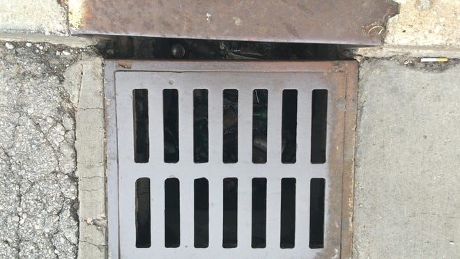 MSD sewer grate.