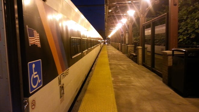 New Jersey Transit train at the Middletown station.