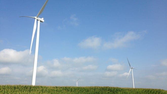Wind turbines are popping up in southern Randolph County for the Headwaters Wind Farm, changing the skyline.