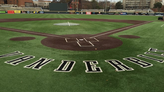 Home plate at Vanderbilt's Hawkins Field on Saturday afternoon.