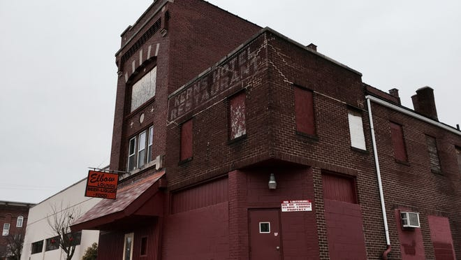 The Licking County Commissioners, owners of the former Elbow Lounge building next to the Licking County Department of Job & Family Services on South Second Street, decided to demolish the old, vacant building.