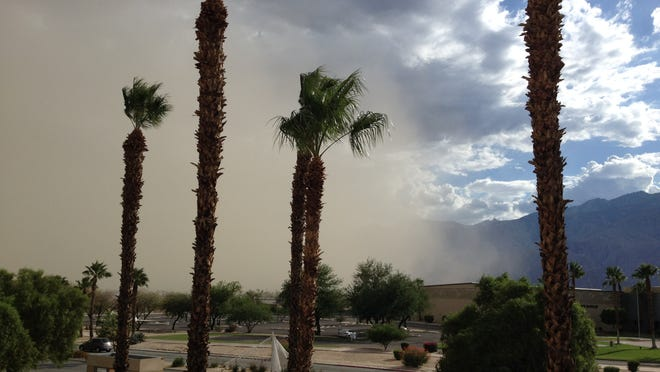The National Weather Service has issued a blowing dust warning which is in effect until  7 p.m. Thursday for the Coachella Valley.