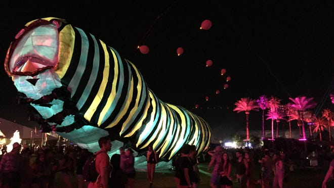 Papilio Merraculous by Poetic Kinetics at the Coachella Music and Arts Festival in Indio on Friday, April 10, 2015.