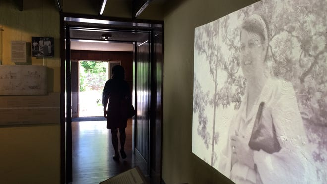 Home movie clips of the Roosevelt family greet visitors to the Stone Cottage. The Eleanor Roosevelt National Historic Site at Val-Kill in Hyde Park opens a new exhibit today.