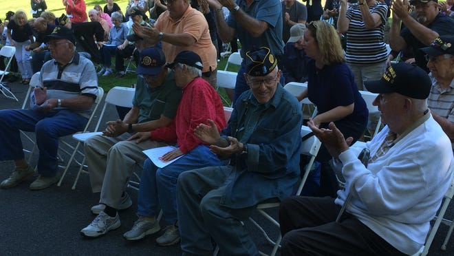 Local residents attend a ceremony at Freedom Park in LaGrange Friday that marked the 70th anniversary of D-Day.