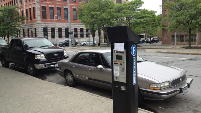 This parking meter on Civic Center Plaza in the City of Poughkeepsie is one of 60 new parking meters. Parking enforcement starts today.