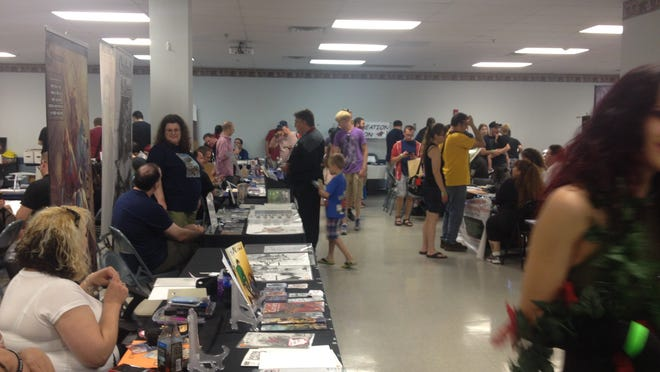 Highland Library hosted its first Comic Con, a comic book, science fiction and fantasy convention, at Highland Fire District Saturday, coinciding with the Comic-Con International in San Diego.
