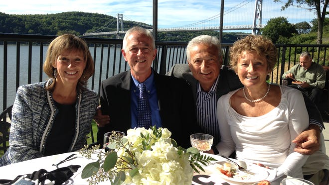 Susan Kirchhoff, Dr. Robert Exelbert, Alain Younes and Betty Kirchhoff at the benefit for Greystone Programs.