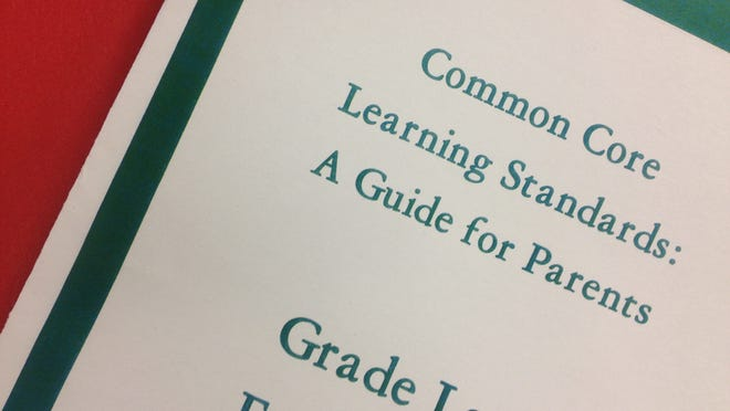 A photo of a guide for parents on the Common Core standards.