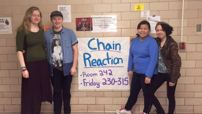 Chain reaction members, from left, Sabrina Kelley, President Tate McWhorter, Gina Diep and Mary Chilcote.