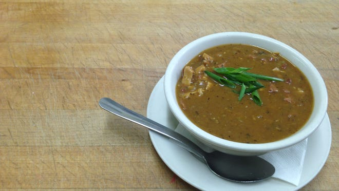 A bowl of gumbo from Po'Boys Creole & Fresh Catch in Milton.