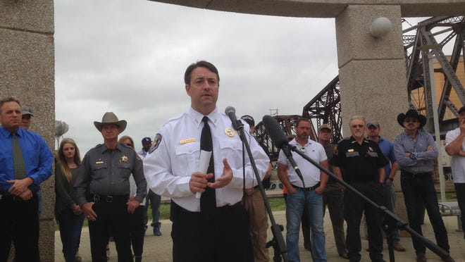 Caddo Constable Eric Hatfield announced he'll run for sheriff Monday morning at the Shreveport riverfront.