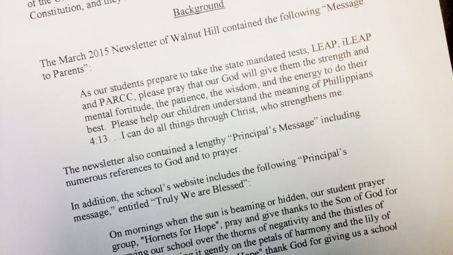 In this letter, the ACLU of Louisiana outlines why Walnut Hill Principal Albert Hardison's religious message violate the First Amendment.