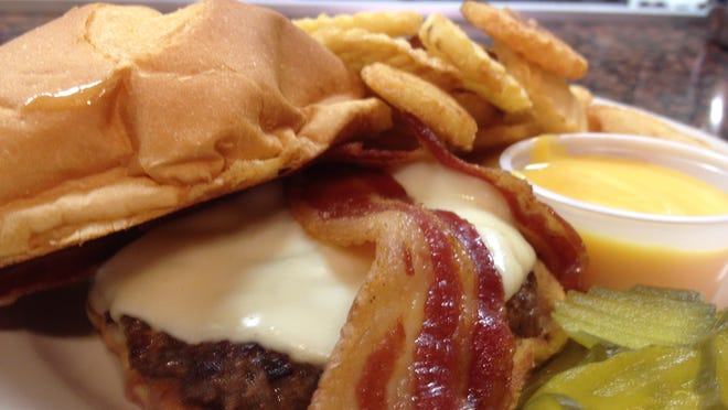A bacon cheeseburger at Dolsie's in downtown St. Cloud.