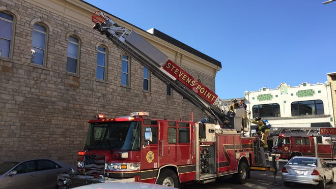 A report of smoke from a building in downtown Stevens Point drew a response from firefighters Thursday afternoon.