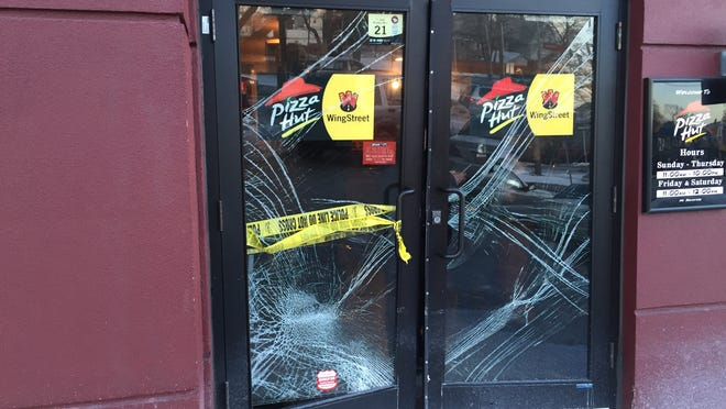 New Rochelle police arrested a woman Sunday afternoon after she crashed her car into the Pizza Hut on 80 Huguenot St. It's alleged she was upset with service at the fast-food joint.