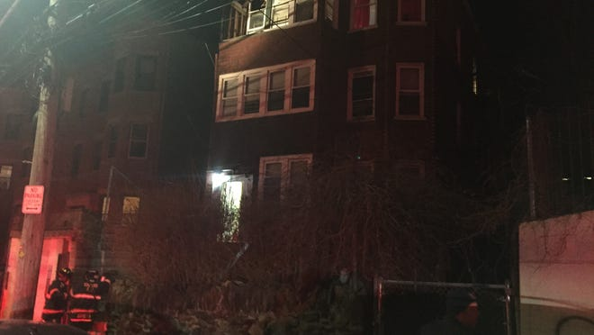 A two-alarm structure fire at 44 Maple Ave. Sunday night kept firefighters busy.