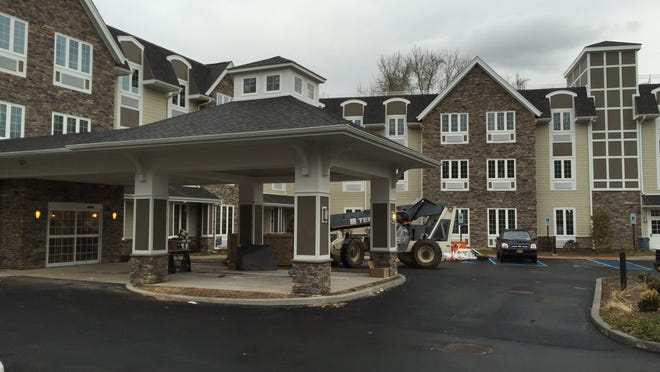 Construction was still underway in Scarsdale at The Ambassador on March 30, 2015. The assisted-living complex does not yet have a state permit.