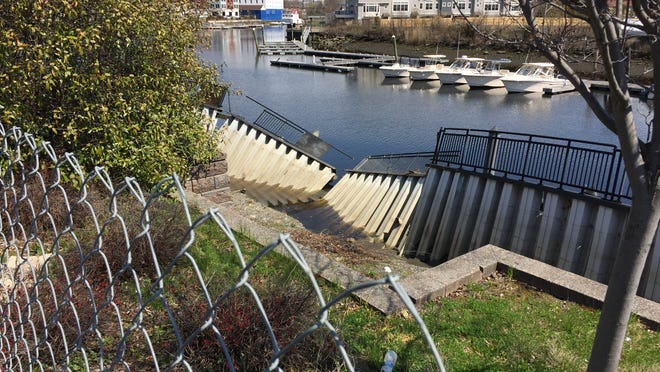 Until a Port Chester seawall is repaired on the Byram River, further breaches are a possibility, officials say.