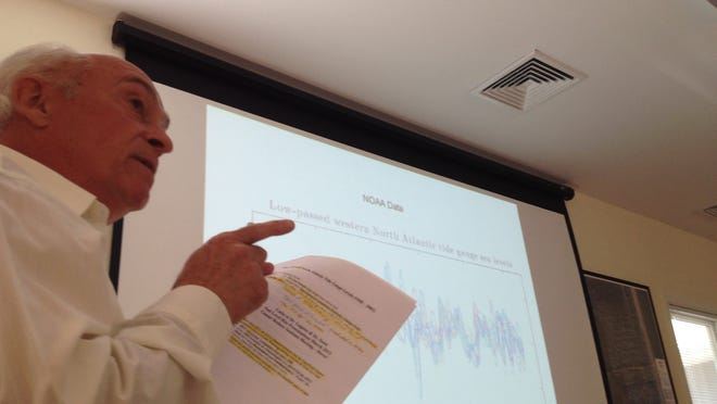 South Bethany resident Robert Coleman argued the Sea Level Rise Committee incorrectly calculated data on tide rise in the West Street canal.