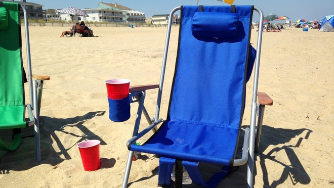 At Dewey Beach, red Solo cups are often the least-discreet way to conceal alcohol, which is prohibited on the beach.