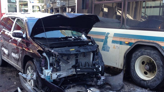 A DART bus was involved in a crash with an SUV at 11th and Orange streets in Wilmington Friday afternoon.