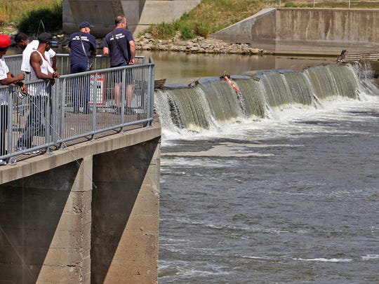 The Center Street Dam on the Des Moines River in downtown