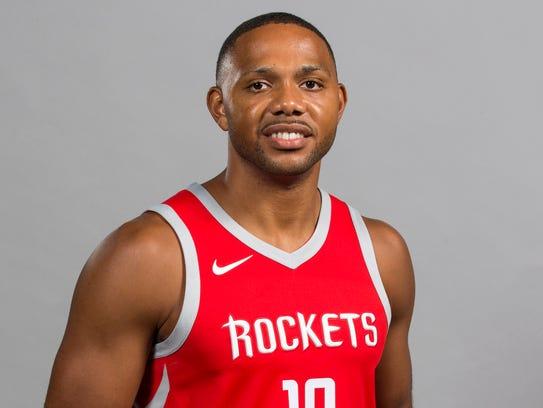 Houston Rockets guard Eric Gordon (10)