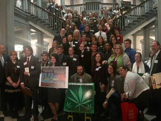 More than 50 supporters of the proposed Delaware Marijuana