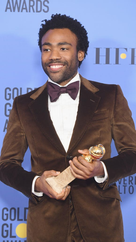 Donald Glover just went went two for two at the Golden