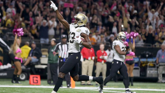 Rookie wide receiver Michael Thomas has a touchdown reception in each of the Saints' last three games.
