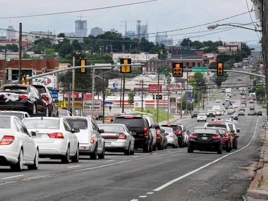 South Nashville: Traffic moves along Nolensville Road