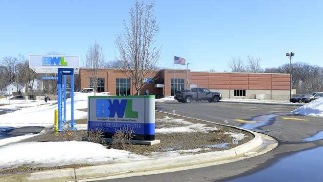 Board of Water & Light's renovated office building that is nearing completion on Haco Drive in Lansing.