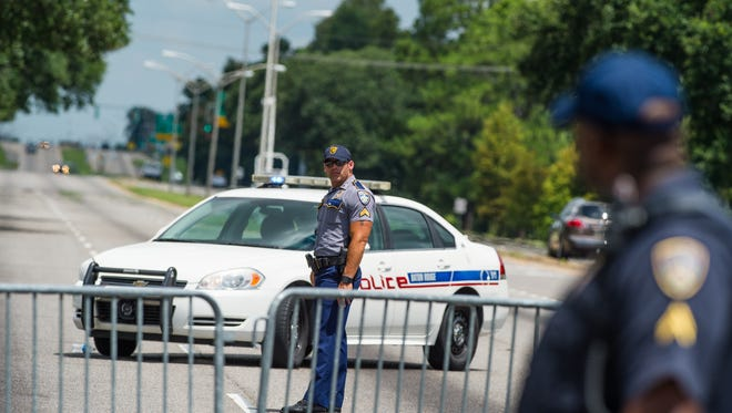 Baton Rouge police respond to active shooter at Hammond Aire Shopping Center on July, 17, 2016