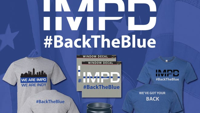 The shopIMPD.com online store features IMPD and #BackTheBlue merchandise.
