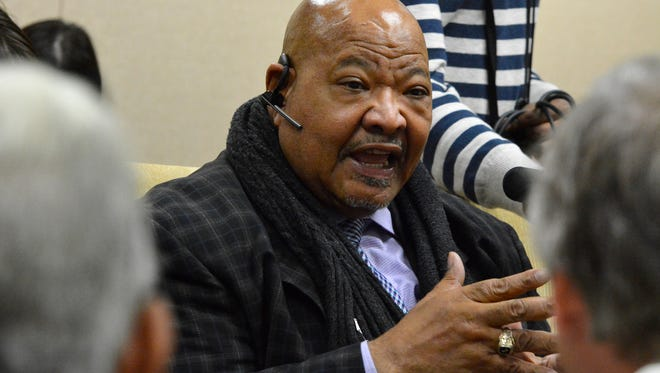 Rev. Bill Kerney speaks about a recent Black Ministers Association of York town hall meeting concerning racial incidents at York Tech during a York NAACP meeting at Crispus Attaucks, Tuesday, November 22, 2016. John A. Pavoncello photo