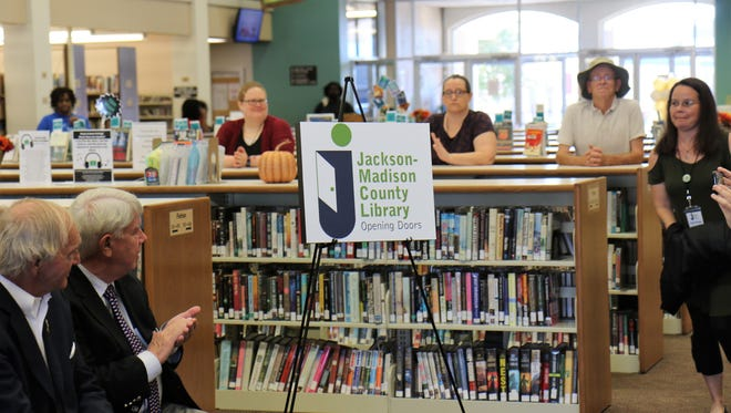 A 50th Anniversary Celebration was held for the Jackson-Madison County Library on Saturday, September 15, 2018 at the library in downtown Jackson.  The day was filled with special presentations by local officials, lectures by guest authors, and refreshments.A 50th Anniversary Celebration was held for the Jackson-Madison County Library on Saturday, September 15, 2018 at the library in downtown Jackson.  The day was filled with special presentations by local officials, lectures by guest authors, and refreshments.