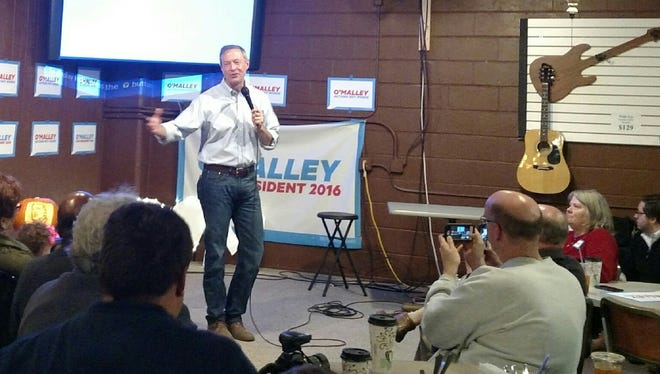Presidential candidate Martin O'Malley speaks at a meet-and-greet in West Des Moines on Oct. 31.