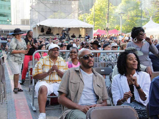 Attendees enjoying the music of Lisa Fischer during the 2016 Detroit Jazz Festival.
