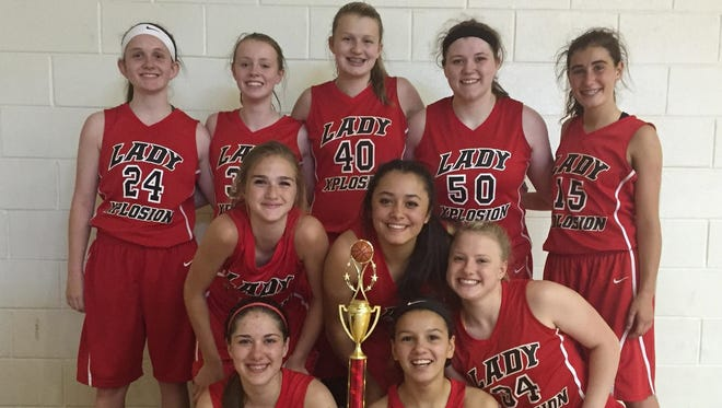 The Lady Xplosion ninth/10th grade basketball team won the junior-varsity division of its age group at last weekend's Bond 4 Love of the Game Classic in Winston-Salem.