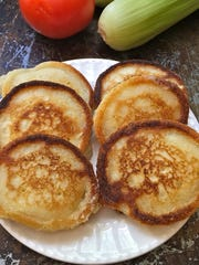 Hoecakes are basically a type of cornmeal pancake that is quick and easy to make. It's frequently served with Southern peas and greens.