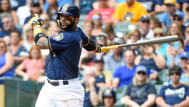 Jonathan Villar's playing time at second base will be dwindling with Neil Walker in the fold, so the Brewers are giving him a try in center field.