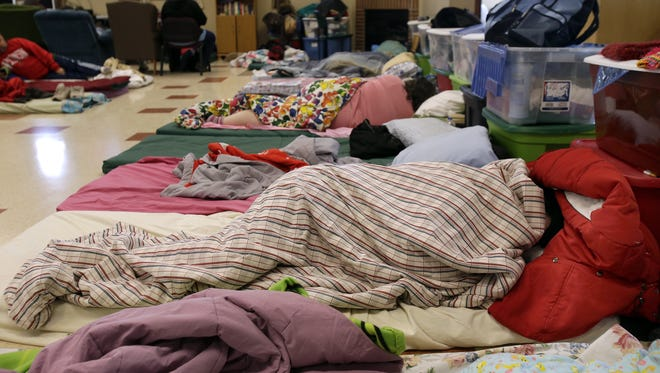 A night at the Fox Valley Warming Shelter will be simulated for participants in the Little Red Wagon event in Appleton Saturday.