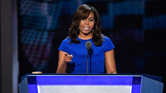 First lady Michelle Obama speaks during the 2016 Democratic