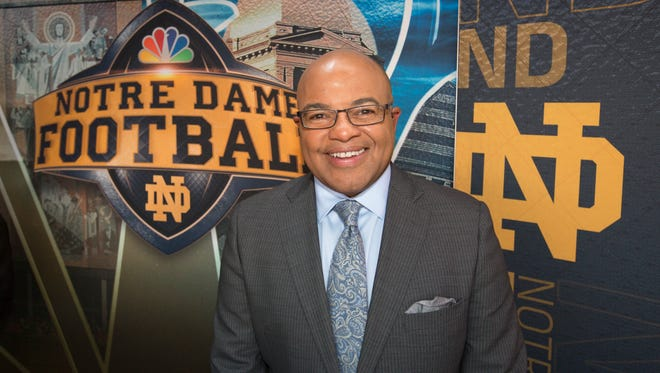 IndyStar caught up with Mike Tirico -- the voice of Notre Dame football on NBC -- to talk about how covering Notre Dame has been so far and what he thinks about Saturday's matchup with USC.