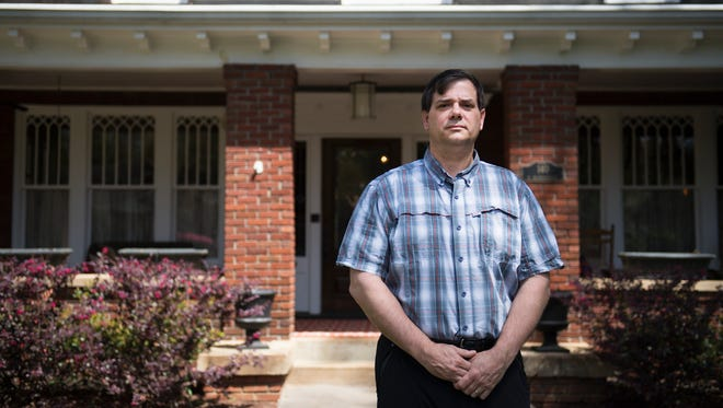 Will Mecklenburg is pictured outside of his home on Tuesday, April 10, 2018.