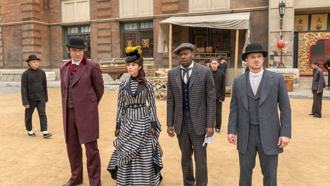 The 'Timeless' crew made a stop in 1880s San Francisco in Sunday's Season 2 finale. (From left: Goran Visnjic, Abigail Spencer, Malcolm Barrett and Matt Lanter)