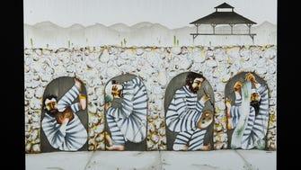 Artist Wrara Plesoiu of Phoenix created this artwork depicting the Yuma Territorial Prison.