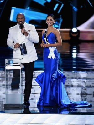 Steve Harvey and Miss Philippines, Pia Alonzo Wurtzbach.